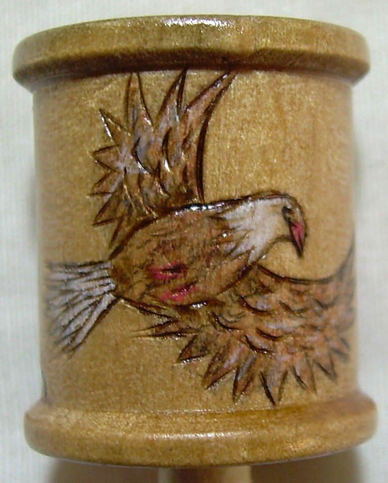 "#11, ""Large Eagle"" 3 small, cliffs, flower on top. Commissioned piece."