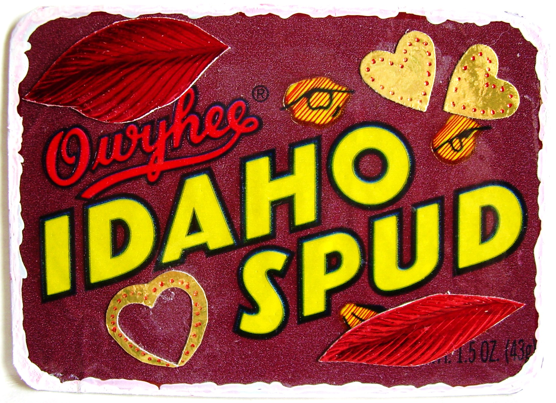 "#11, ""IDAHO SPUD - Candy"", ORIGINAL $5.00, FREE shipping"