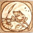 "12-2011, ""Frog Pulling Flower"", Nature lovers delight"