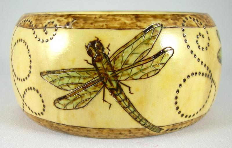 "#12-2012, ""Fancy Free"",  4 panels of Dragonflies. 1-1/2""x2-5/8"", Medium"