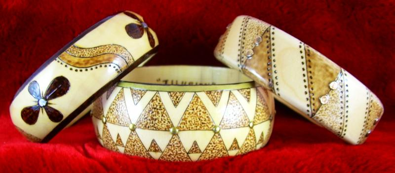 12 + 11 + 10 - 2013, Three bangles all with studs/tacks, see single pics on left