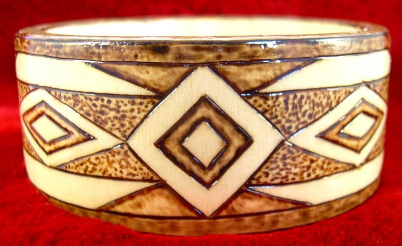 "#20-2012, ""Inspired"", size Medium, 1-1/4"" flat x 2-5/8"" diameter."