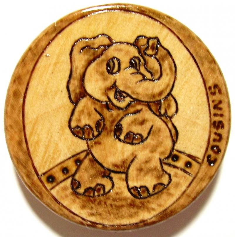 #33, Eleph-Fun, Cartoon elephant on drum.  #8.00, S/H $3.00.  Commissions $15.00