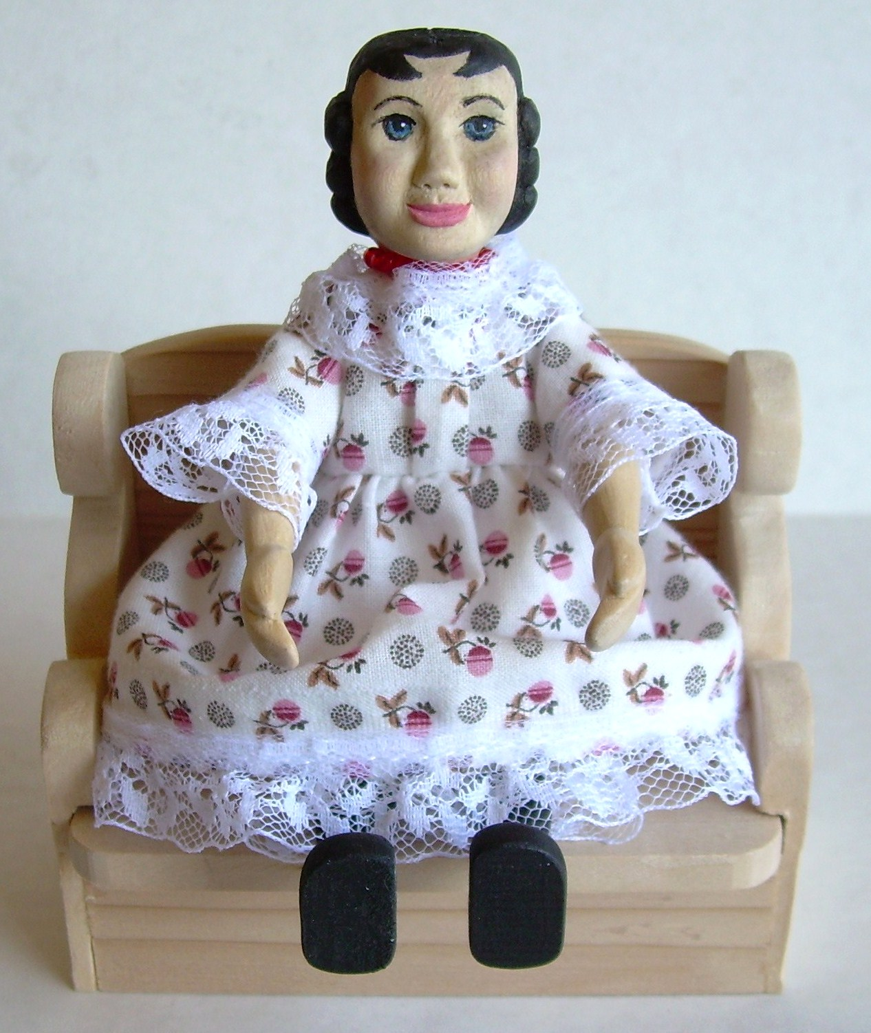 "#3, HITTY ""Becca"", doll, dress, bonnet, pantalets, $125.00 + $10.00 S/H"