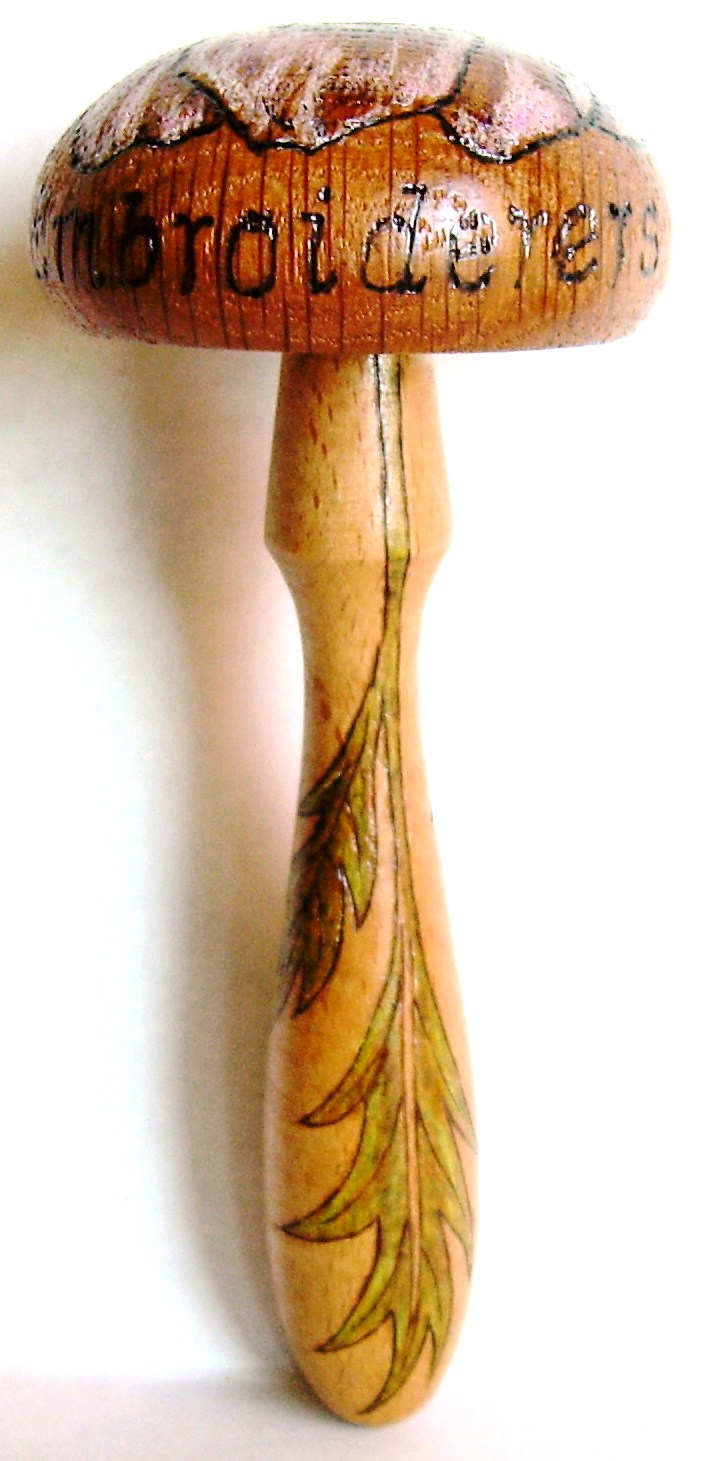 "#3, ""Jersey Embroiderers Guild, handle.  Commissioned piece."