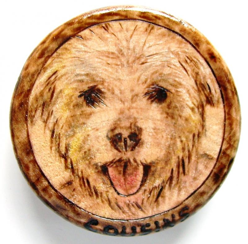 "# 4-2011, ""SHAYNA"", Wheaton Terrier, total of 5 for CUSTOM order."