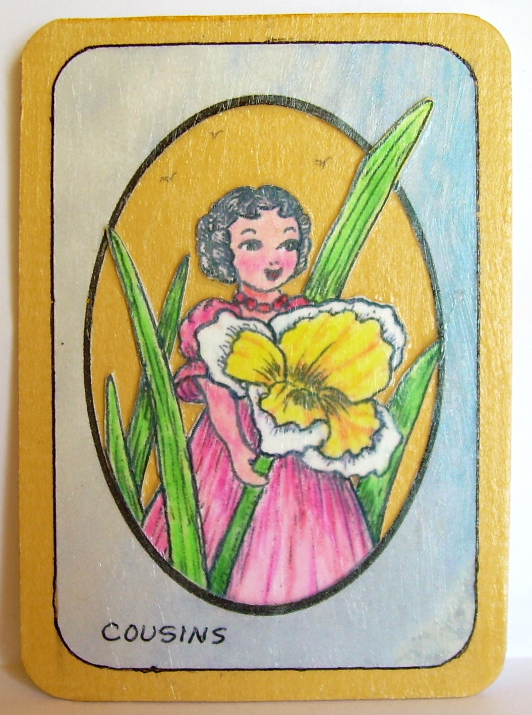 #6, Pick a Daffodil, ALTERED ORIGINAL, $6.00, Shipping $1.00 