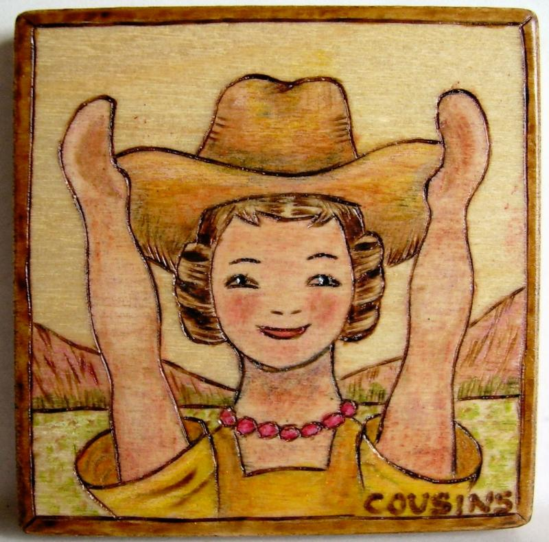 #88, HITTY, Cowgirl in Texas. $10.00, S/H $3.00, Commissions $15.00