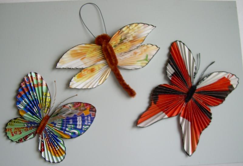 ORIGAMI, Butterfly magnets.  $3.00 to $5.00 each.  Classes available.